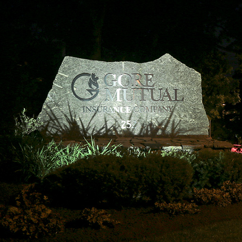 Gore Insurance LED outdoor lighting